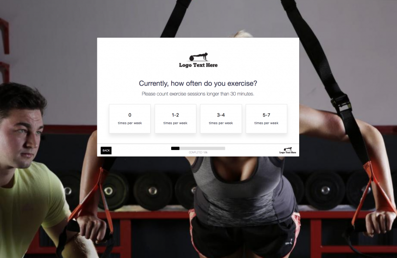 Personal Trainer Form Template & Booking Software